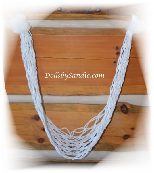 Handmade Macrame' Baby Display Swing Hammock for your Doll or Suffed Animals