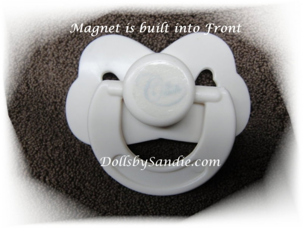 ONE DOZEN (12) - Magnetic Pacifiers by Cradle Kits - Enclosed Magnet