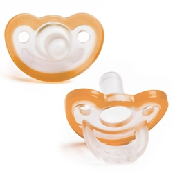 Pacifier - JollyPop 0-3 Orange Baby Pacifier for your Reborn