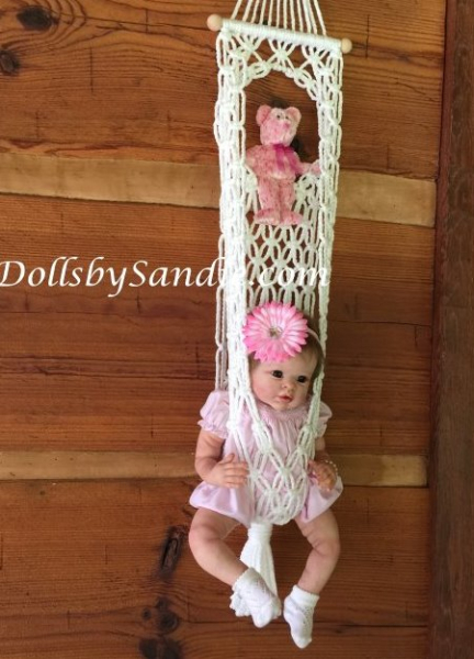 Handmade Macrame' Baby Display Swing Pouch for your Reborn Baby