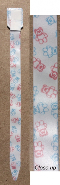 Authentic Hospital Infant ID Band with Teddy Bear Print