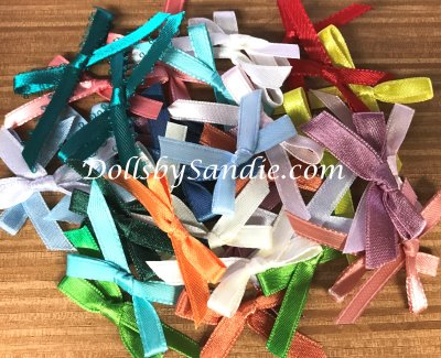 Package of 25 Assorted Hand Tied Bows - Size 1-1/2""