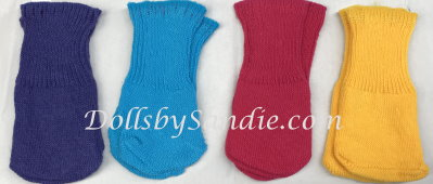 Special Offer - Socks - Pack of 4 Colored Cotton Baby Doll Socks
