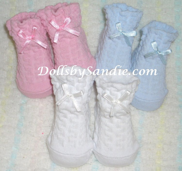 Baby Booties with Satin Bow