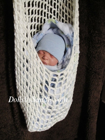 Handmade Crocheted Hanging Pouch for your Reborn Baby