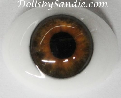Pabol 24 MM  CC09 pabol Glass Eyes Hazel Oval Flatback for reborns
