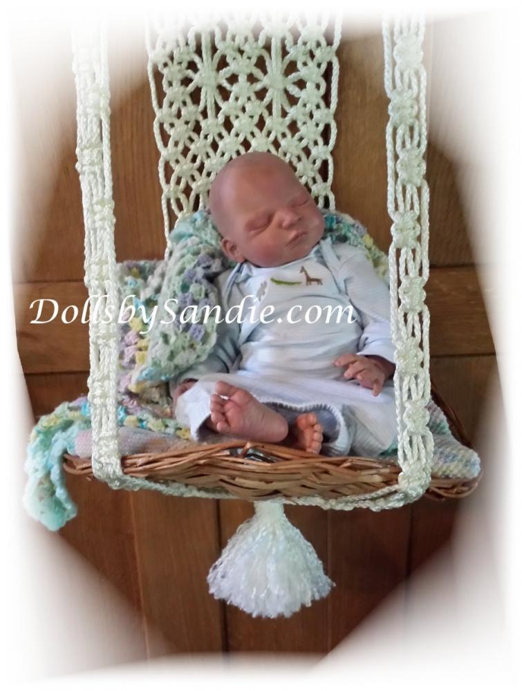 Sweet Hanging Basket Display For Your Reborn Baby
