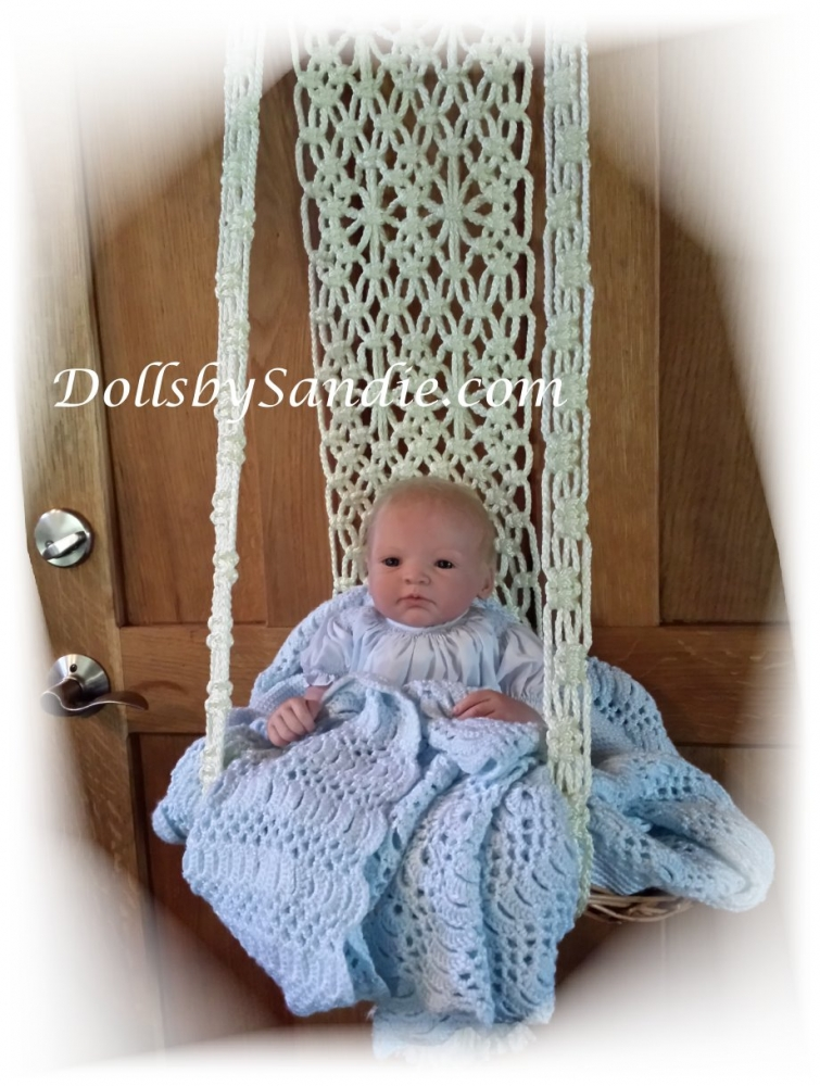Sweet Hanging Basket Display For Your Reborn Baby
