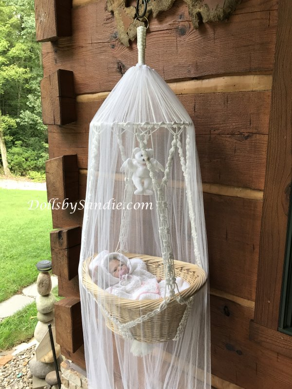 Large Hanging Baby Basket Display For Your Reborn Babies