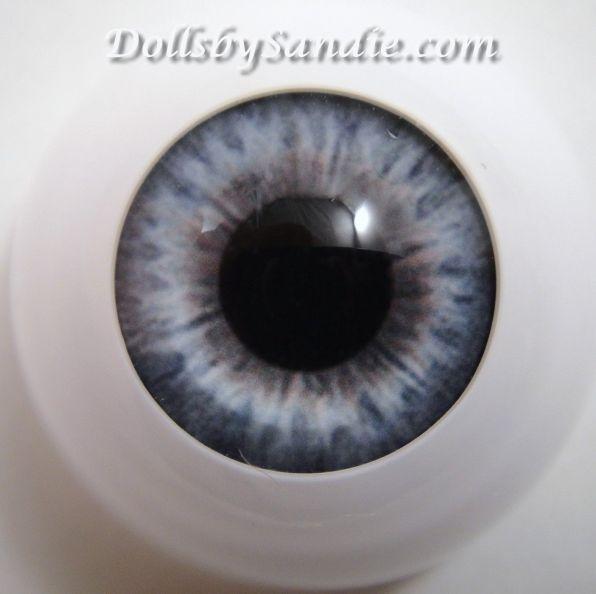 Reborn Secrist VICTORIAN BLUE Polymer Eyes x 1 pair HALF Round