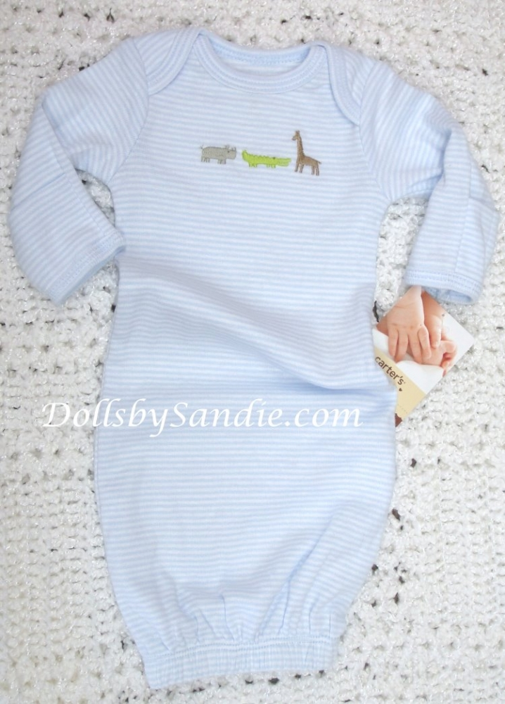 Carter Long Sleeve Gowns - Great for Reborn Babies
