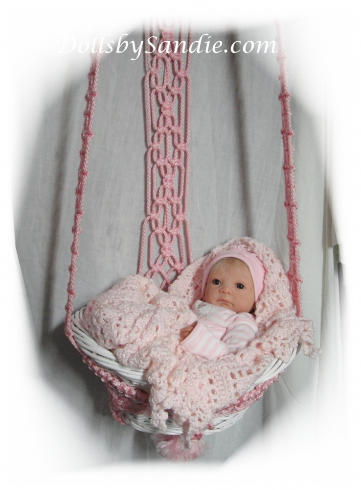 Sweet Little Hanging Baby Basket For Your Reborn Baby