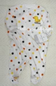 Carter's Sleeper - Sleeper Dotted Fleece with Duckie - 3 mo.
