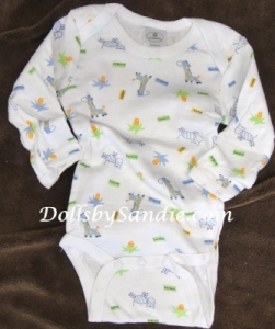 Hospital Onesie - Boys Long Sleeve - Animal Print