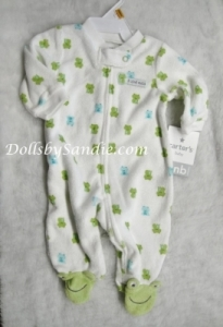 Carter's Terry Cloth Sleeper - Froggie