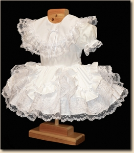 Ruffles & Lace Infant Dress - White