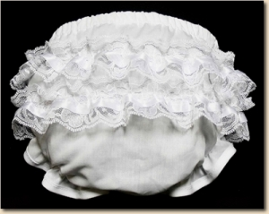 Ruffles & Lace Panties - White Lace
