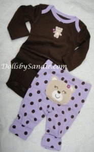 Carter's Girls 2 pc. Set - Purple Bear