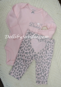 Carter's Girls 2 Pc Set - Pink Heart