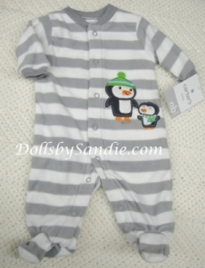 Carter's Boys Fleece Sleeper - Penquins