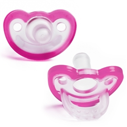 Pacifier - JollyPop 0-3 Pink Baby Pacifier for your Reborn