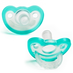 Pacifier - JollyPop 0-3 Teal Baby Pacifier for your Reborn