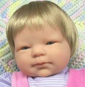 "14-15"" Infant Wig for your Reborn Baby"