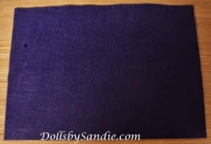 Plum Purple Felt Sheet