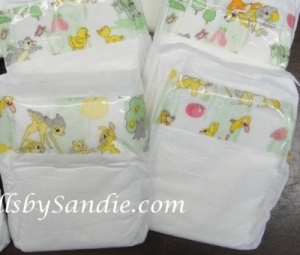Diaper - A Preemie Hospital Diaper with Bambi Theme Print