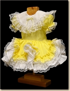 Ruffles & Lace Infant Dress - Yellow