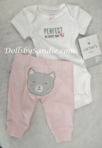 Carter's Girls 2 Pc Set - Pink Kitty