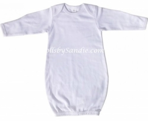 Hospital Gown - Newborn Pullover - White