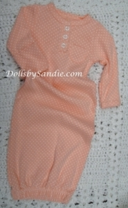 Carter's Girls Gown - Peach with Dots