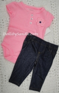 Carter's Girls 3 pc. Set - Pink Jean Set