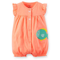 Carter's Girls Romper - Peach Fish