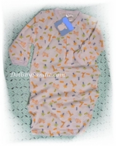 Hospital Gown - Newborn - Giraffe Print