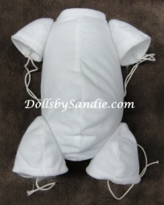 "20"" Flannel Doll Body - Jointed for 3/4 Limbs - By Real Effect"