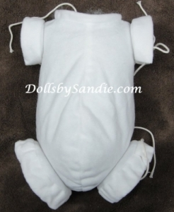 "18"" Flannel Doll Body - Jointed for Full Limbs - By Real Effect"