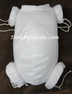 "22"" Flannel Doll Body - Jointed for Full Limbs - By Real Effect"