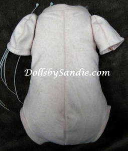"19""- 21"" Doe Suede Doll Body - Jointed for 3/4 Arms & Unjointed Full Legs"