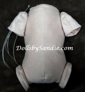 "19""- 21"" Doe Suede Doll Body - Jointed for 3/4 Arms & Full Legs"