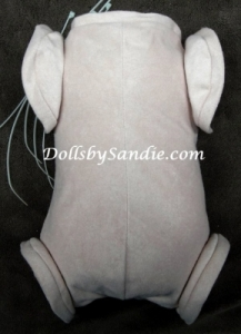 "19""- 21"" Doe Suede Doll Body - Jointed for Full Limbs"