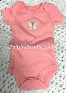 Carter's Girls Onesie - Peach with Butterfly