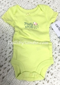 Carter's Girls Onesie - Green - Pretty Perfect