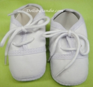 White Newborn Baby Shoes - Great for your Reborn Babies