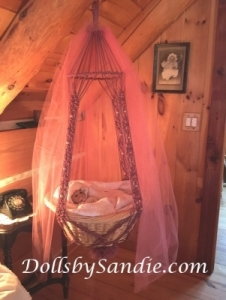 Handmade Macrame' Large Hanging Basket Cradle for Reborn Babies