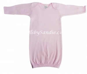 Hospital Gown - Newborn Pullover - Pink