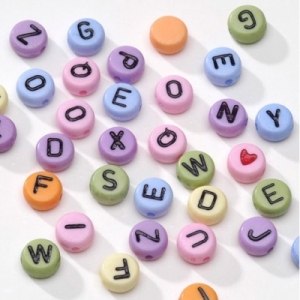 Alphabet Beads 7mm - Package of 250