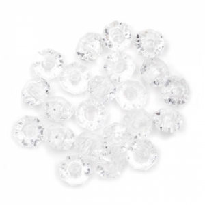 Rondelle Plastic Clear Beads - 6mm - Package of 480