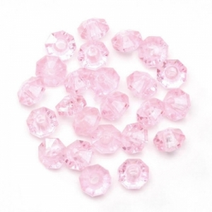 Rondelle Plastic Pink Beads - 6mm - Package of 480